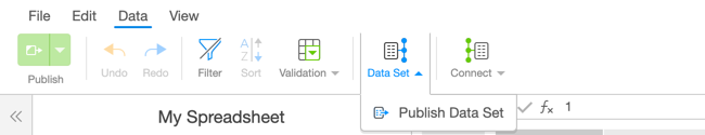 Select Publish Data Set