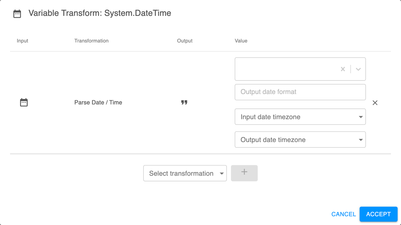 Parse Date/Time transformation
