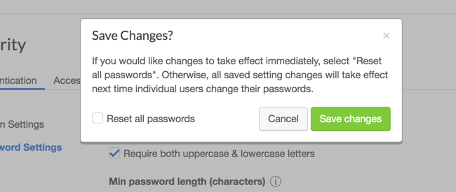 Password Changes