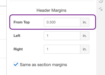 Adjusting margin height