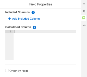 Field Properties panel for a calculated column