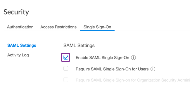 Enable Single Sign-on