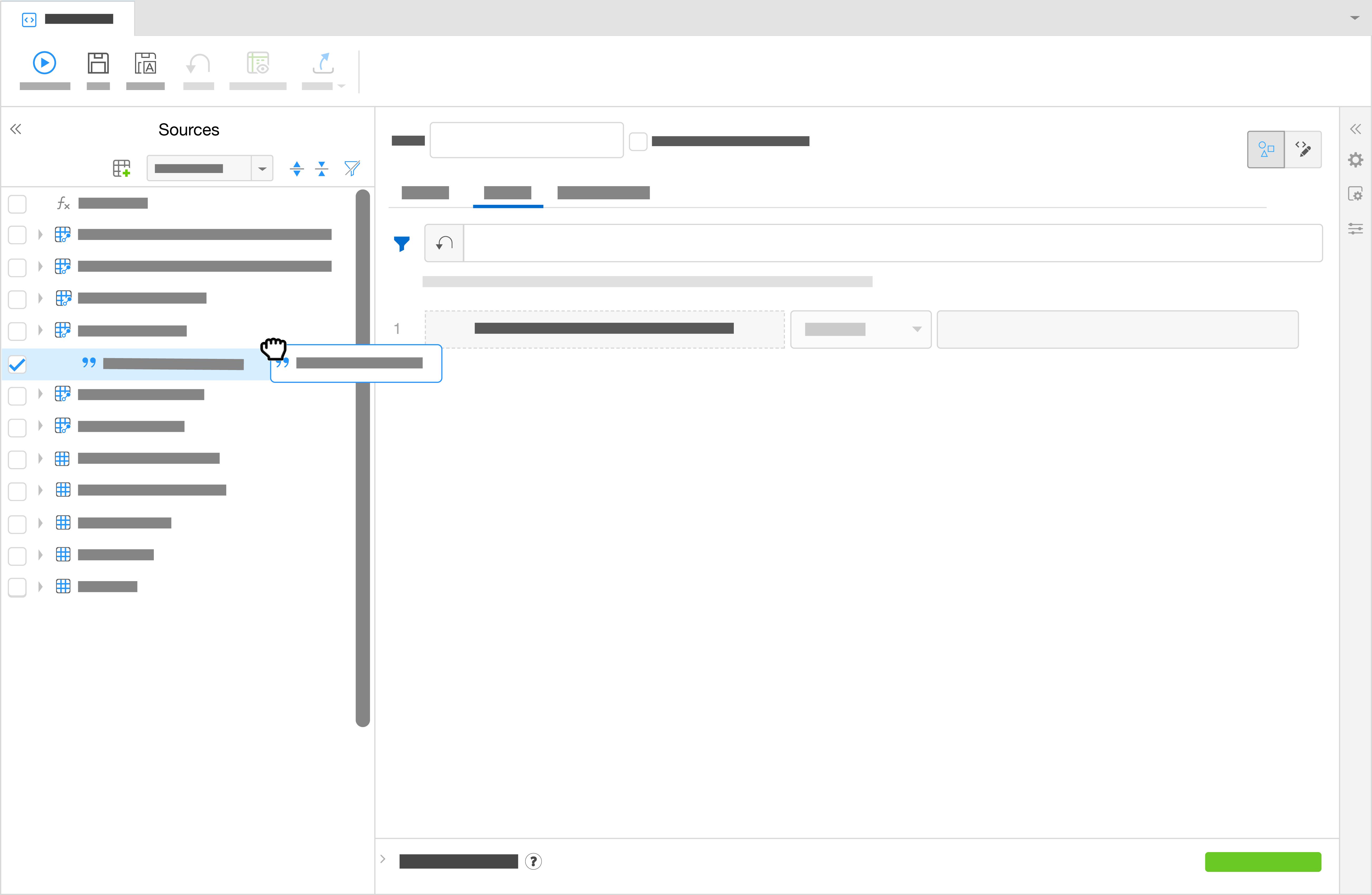 將欄位移至「篩選」(Filters) 索引標籤