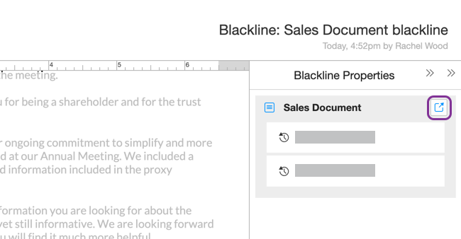 Open source document from the blackline panel