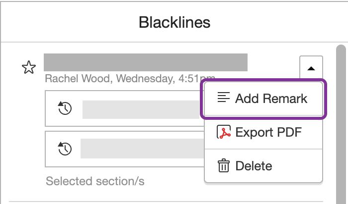 在 Blackline 新增備註
