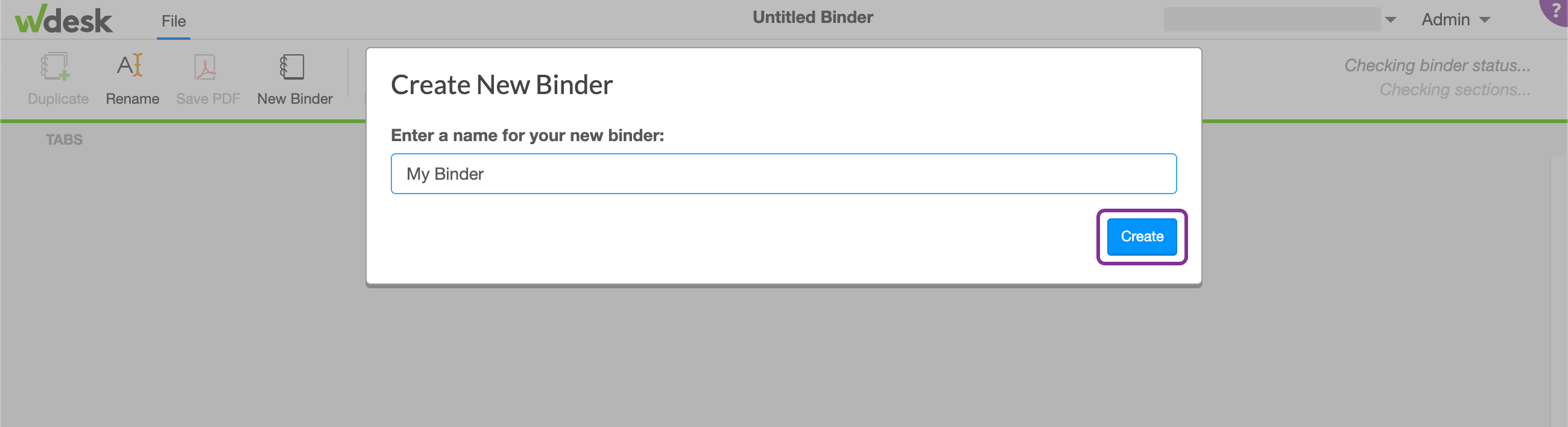 name your binder
