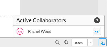 View active collaborators
