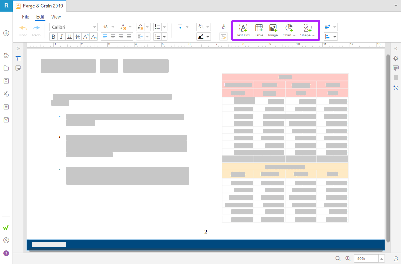 Workiva에서 슬라이드에 내용을 추가하는 방법