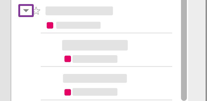 화살표를 클릭하여 편집에 대한 개별 타임스탬프를 봅니다.